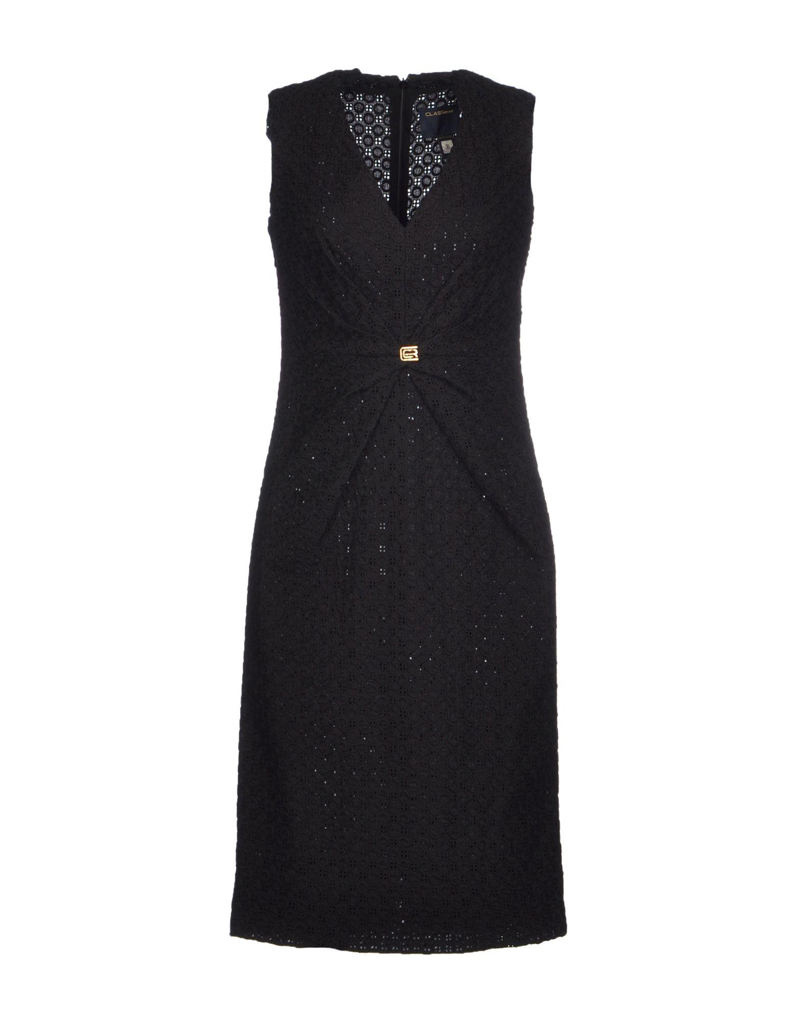 Class roberto cavalli black knee length dress cocktail dresses product