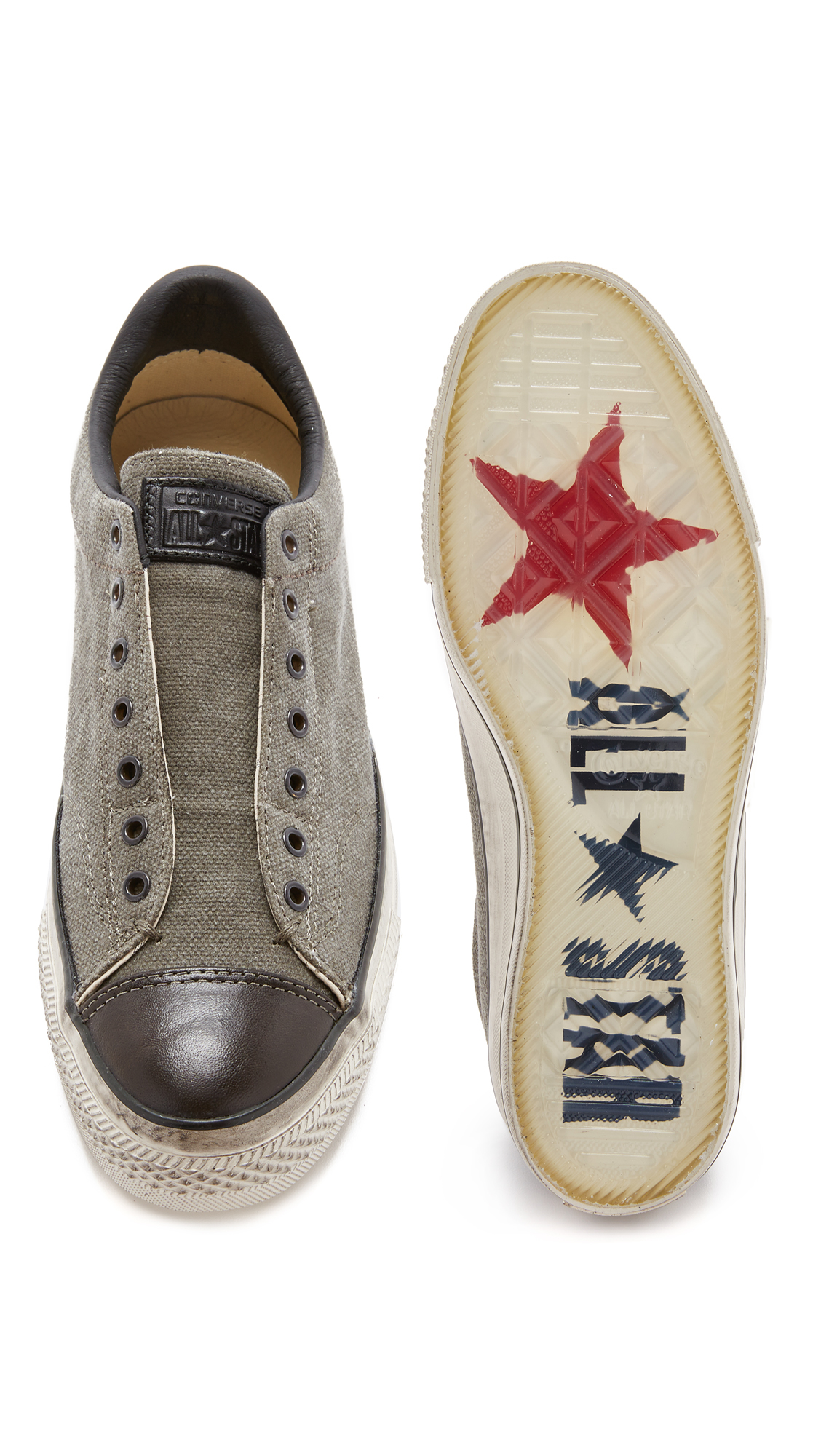 1dc8631f428532 ... x john varvatos 906f6 e98b3  ireland lyst converse chuck taylor all star  vintage slip on sneakers in black for men 8c4be