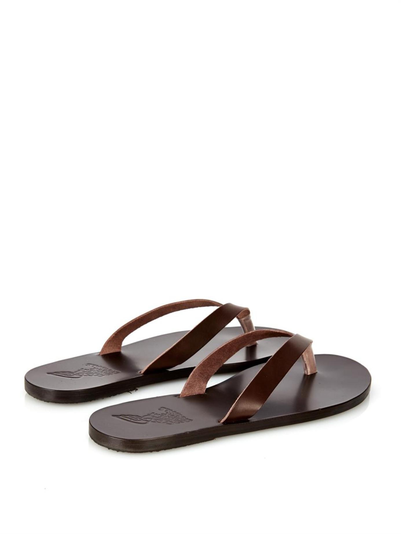 Hero leather flip-flops Ancient Greek Sandals 8ay1fzI4iz