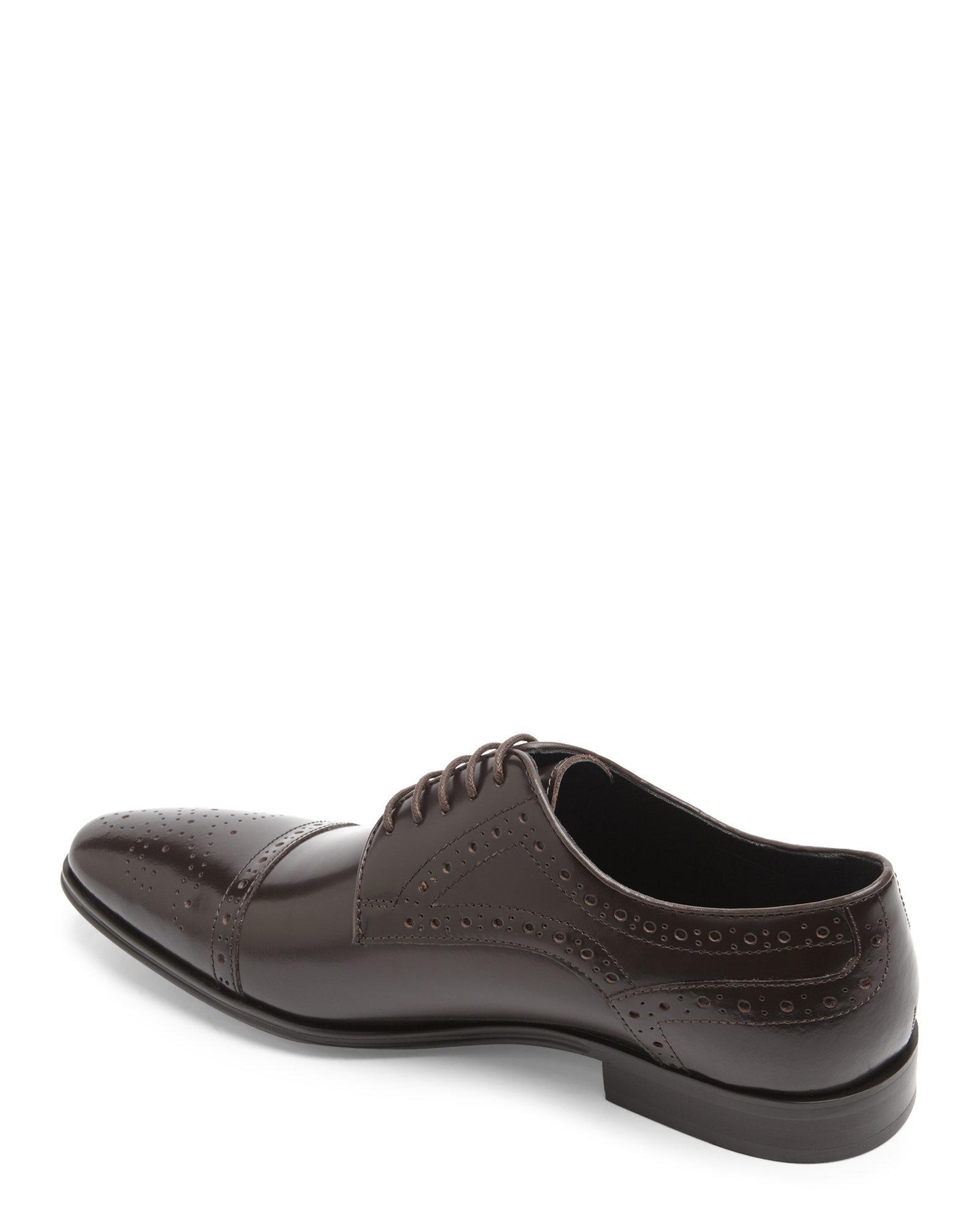 371d888a06d Lyst - Versace Dark Brown Cap Toe Brogue Oxfords in Brown for Men