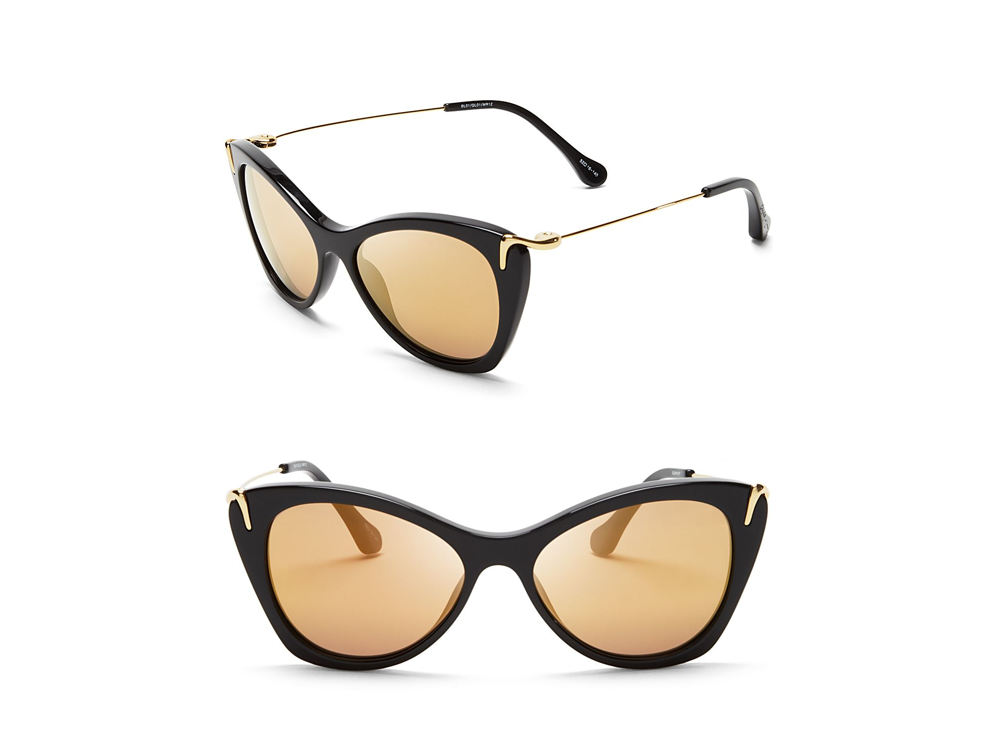 5f69f50cf7 Lyst - Elizabeth And James Fillmore Mirrored Cat Eye Sunglasses in Black