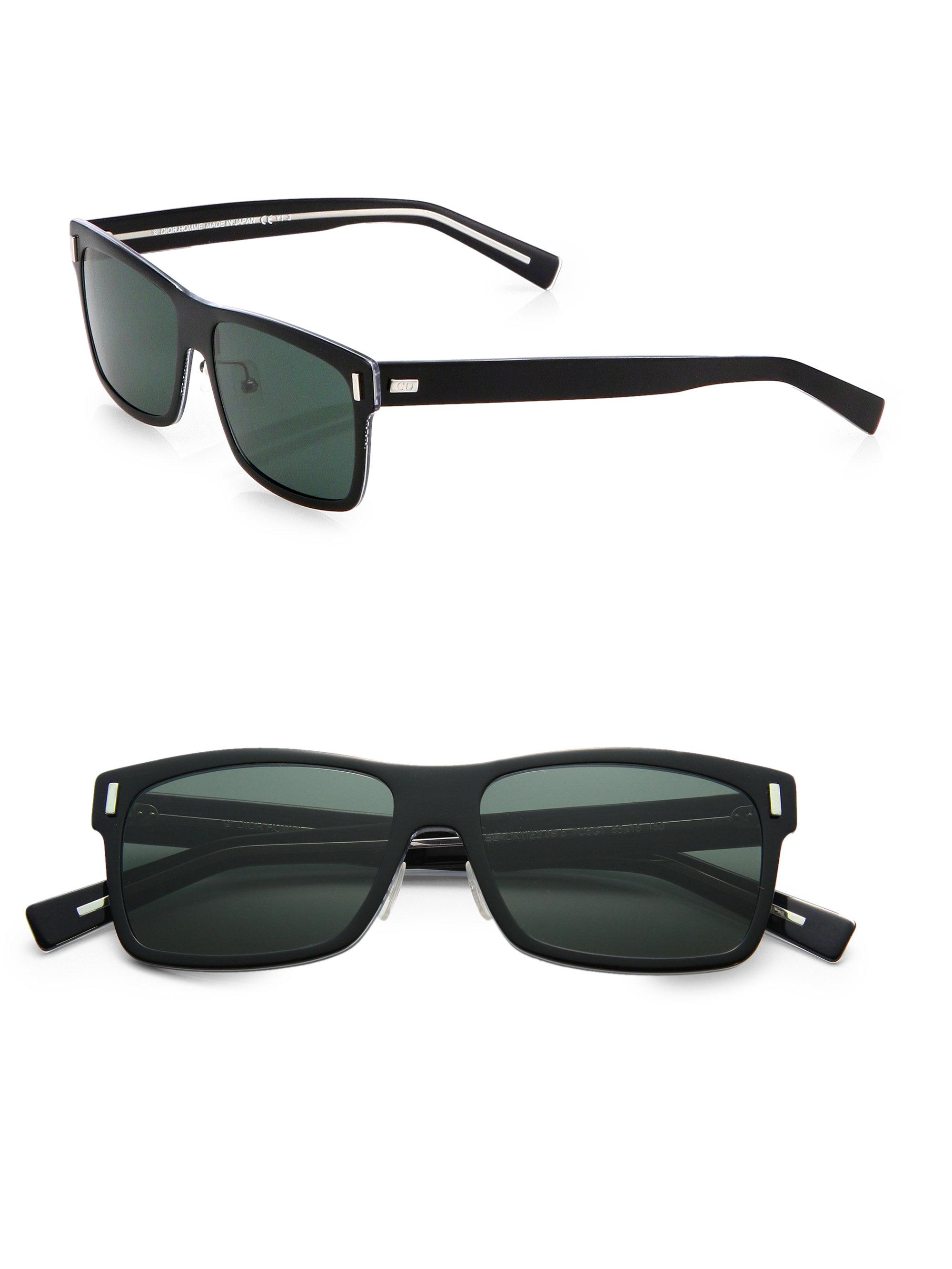 b8cf050ef77ef Dior Homme Crystaltie Acetate Sunglasses in Black for Men