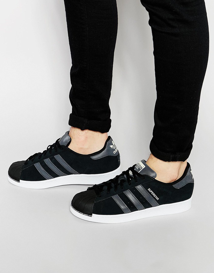 cf7d7ff361ba69 Lyst - adidas Originals Superstar Tech Pack Trainers S79474 in Black ...