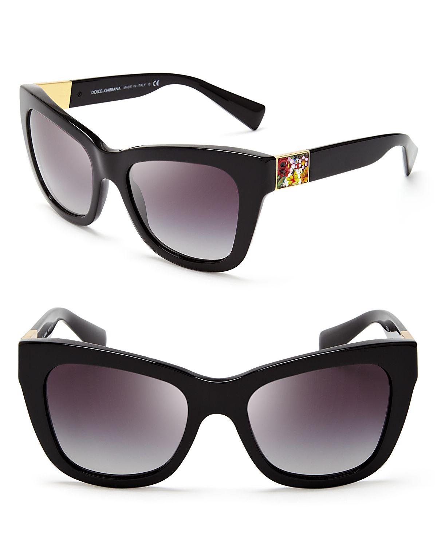 eea3badb1008 Lyst - Dolce   Gabbana Dolce Gabbana Square Mosaic Sunglasses in Black