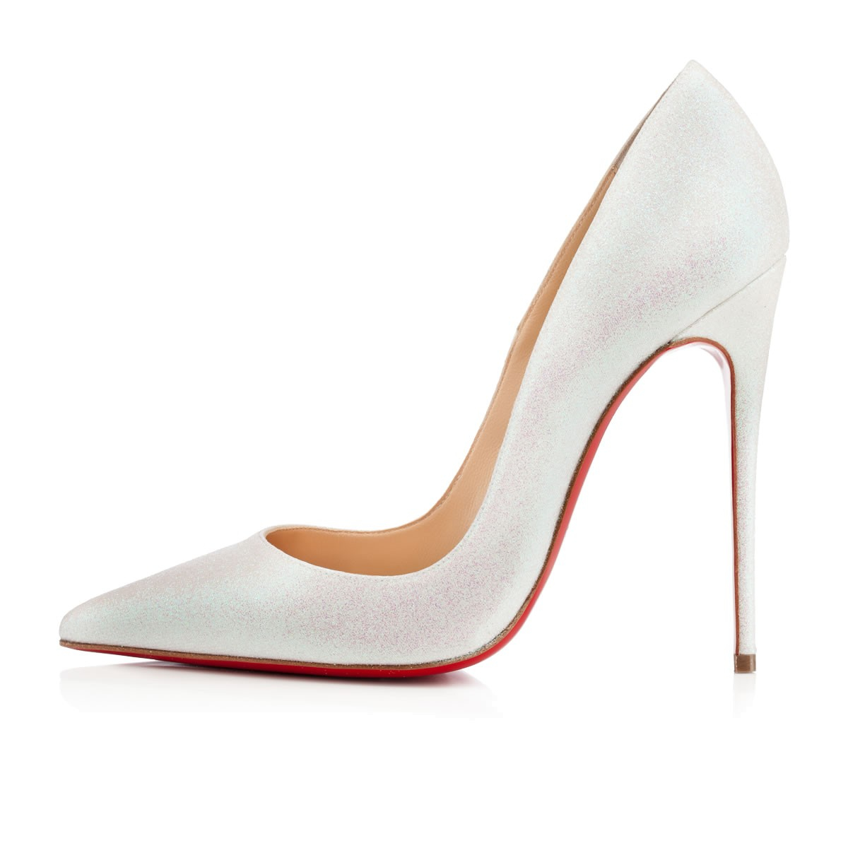 Christian louboutin So Kate Glitter in White (red) | Lyst