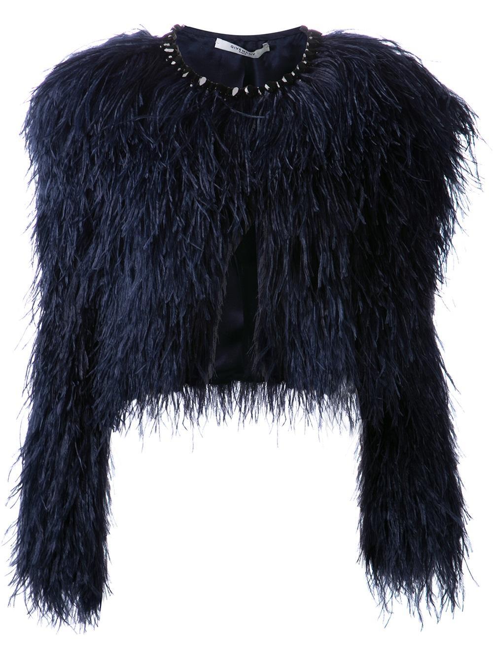 Lyst Givenchy Ostrich Feather Jacket In Blue