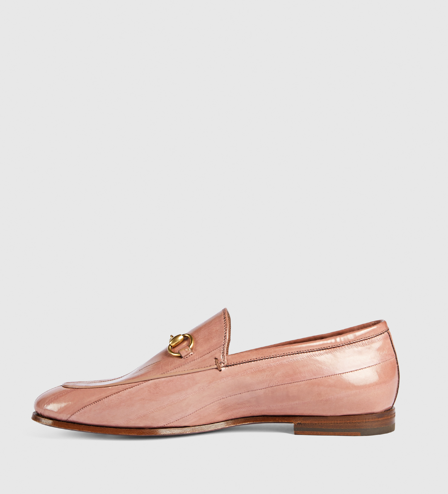 Lyst - Gucci Jordaan Eel Loafer in Pink