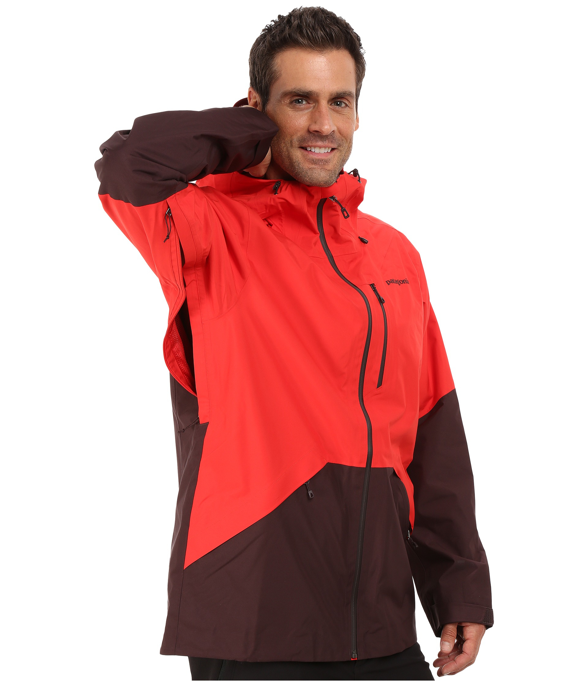 Patagonia Snowshot Jacket In Red For Men