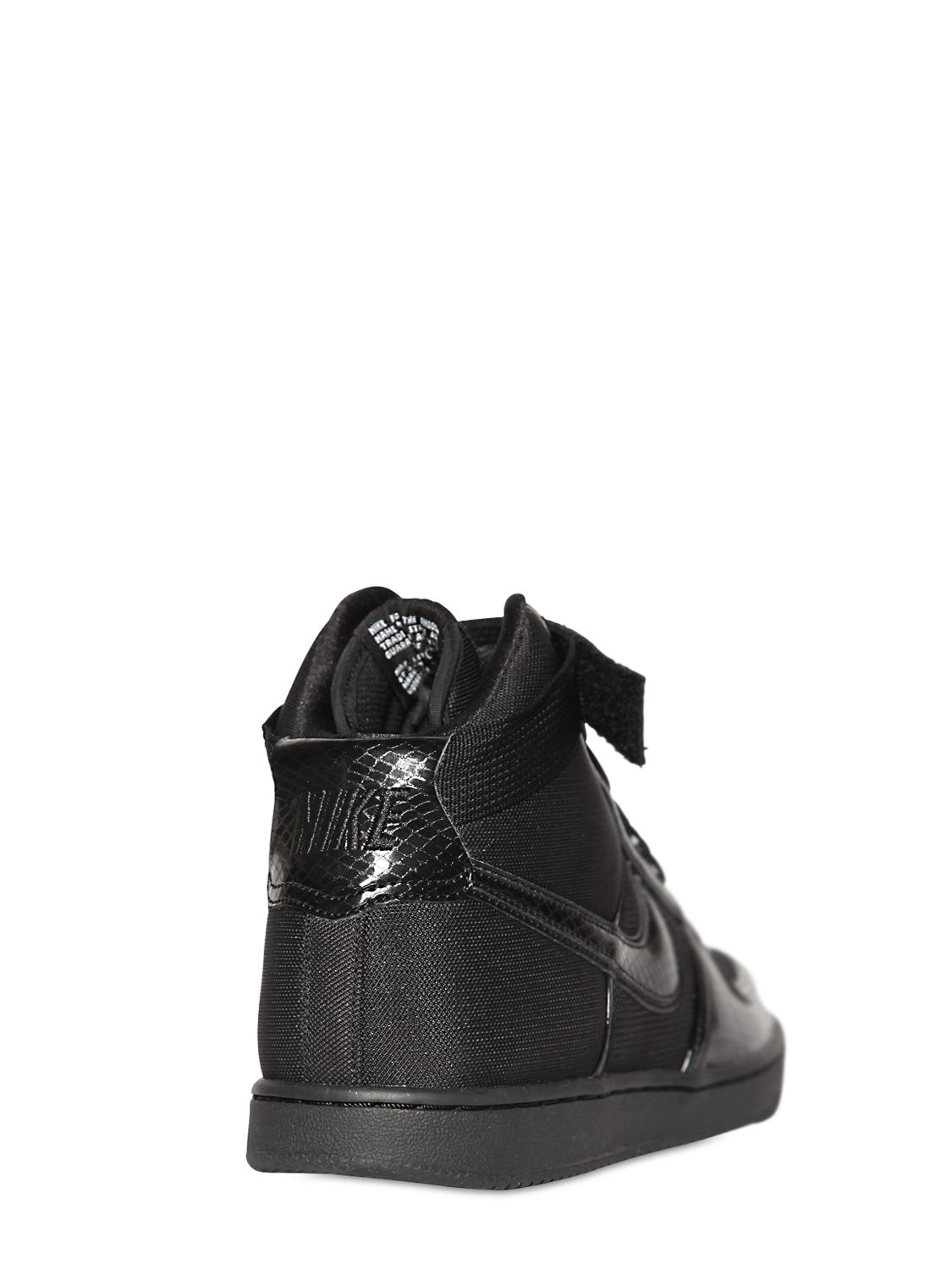 nike vandal high top sneakers in black for lyst