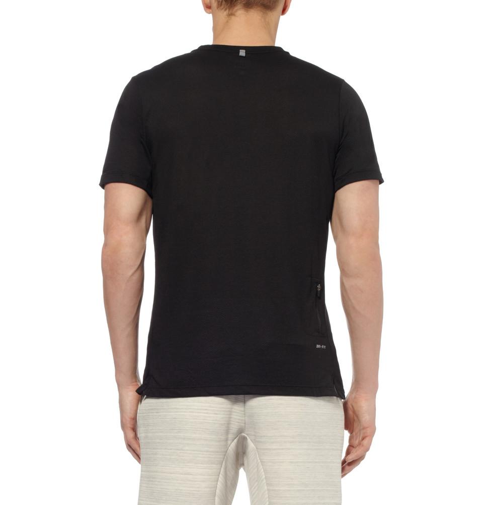 Lyst Nike Drifit Running Tshirt In Black For Men