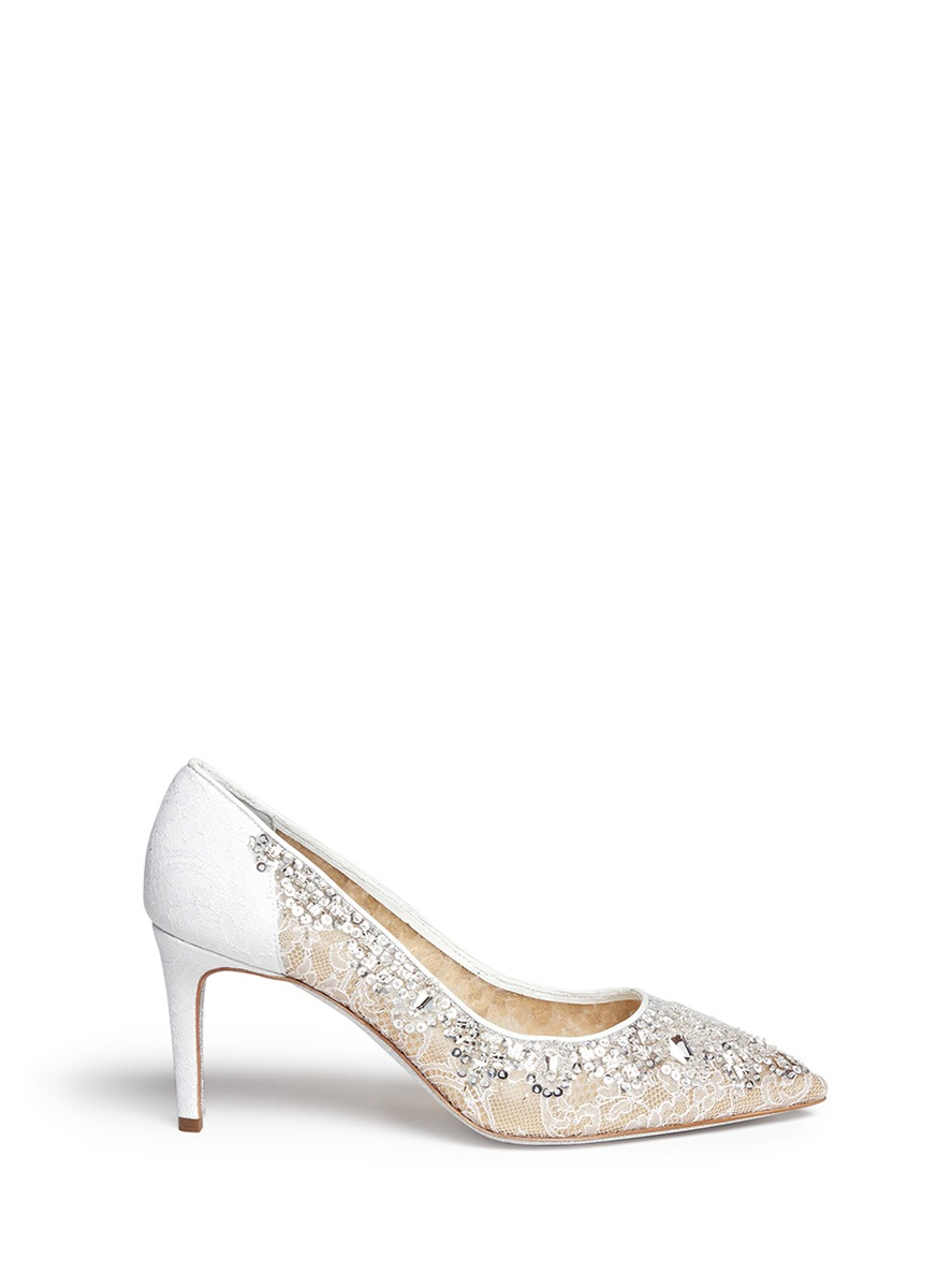 René Caovilla beads embellished pumps