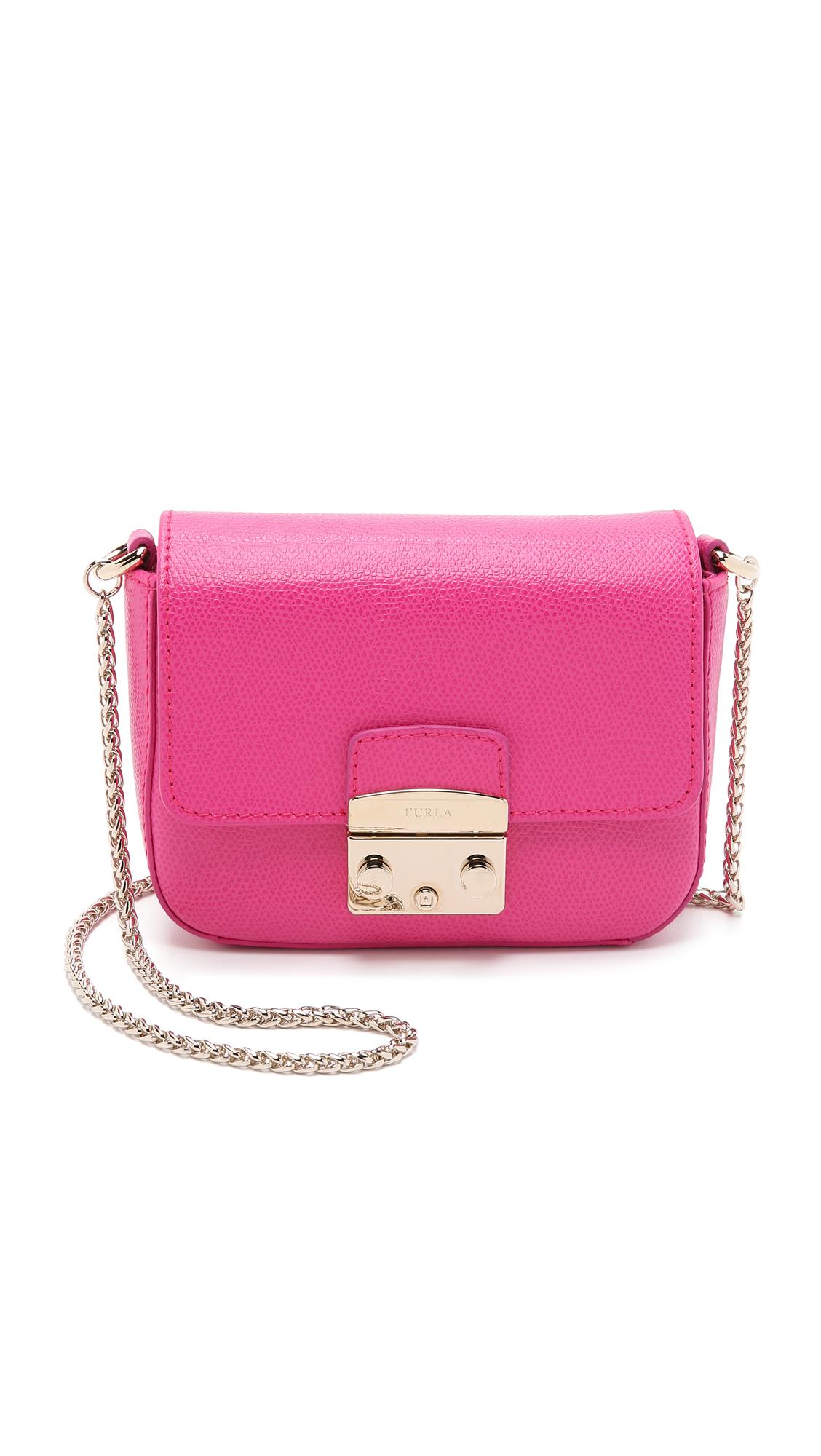 lyst furla metropolis mini cross body bag pinky in pink. Black Bedroom Furniture Sets. Home Design Ideas