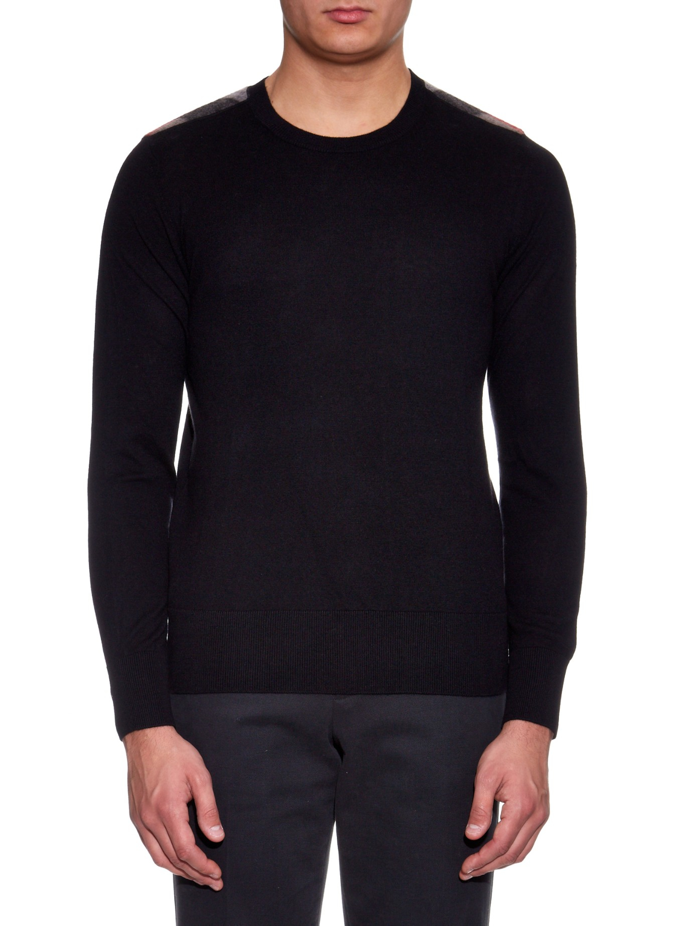 91bae1de5d3c Burberry Brit Jarvis Cashmere And Cotton-blend Sweater in Black for ...