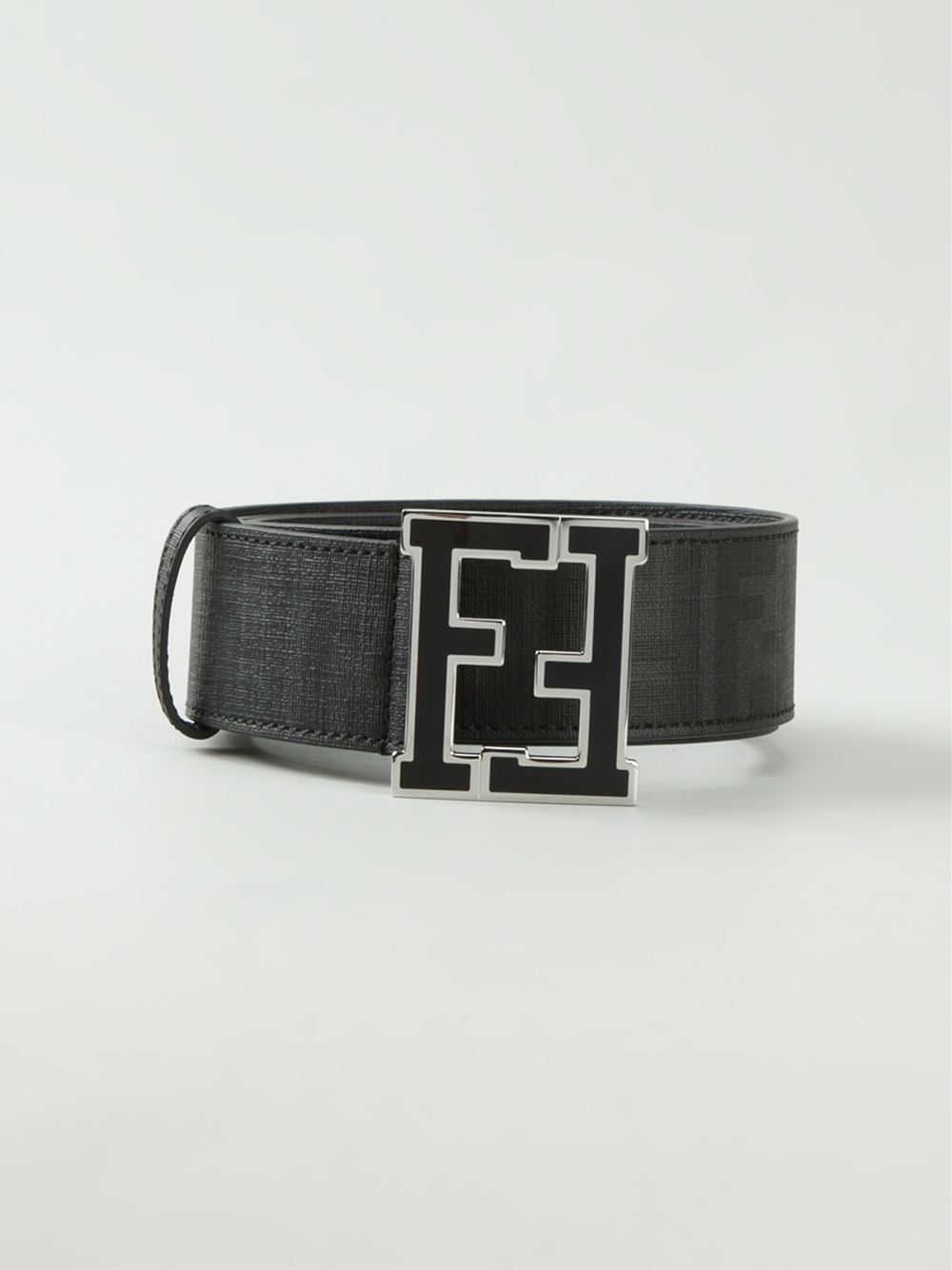 fendi zucca belt in black for men lyst
