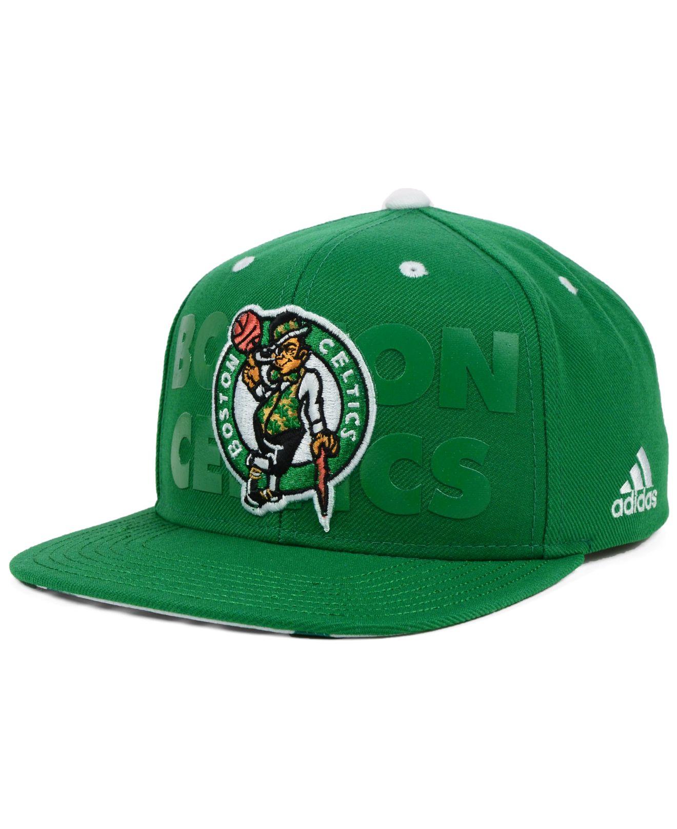 Lyst - adidas Boston Celtics Nba 2014 Draft Snapback Cap in Green ... 75d8e6d8fe6