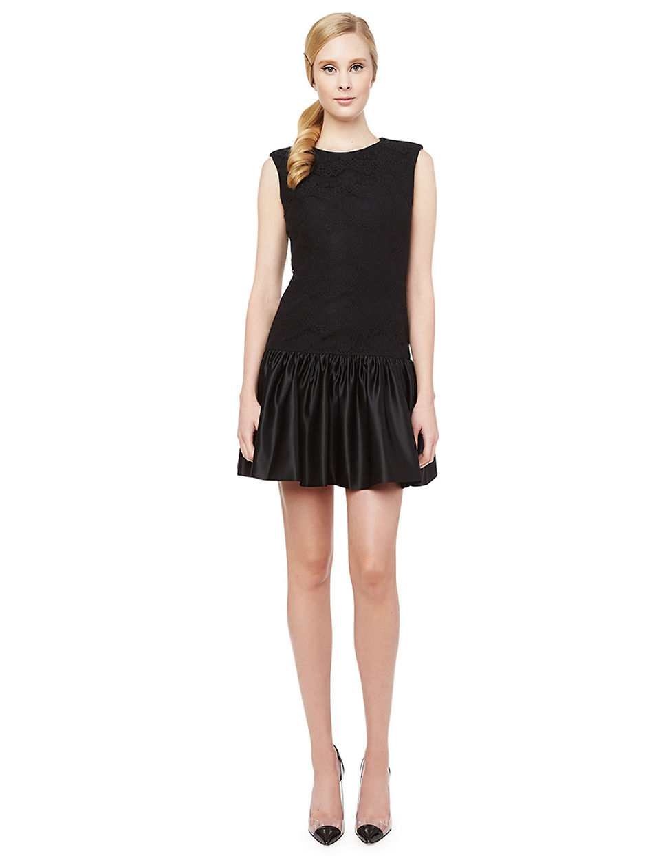 Erin Fetherston Holly Lace Ruffle Dress In Black Lyst