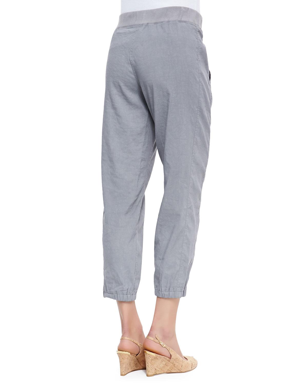 9fe2431b6cf8 Lyst - Eileen Fisher Cargo Linen-blend Ankle Pants in Gray