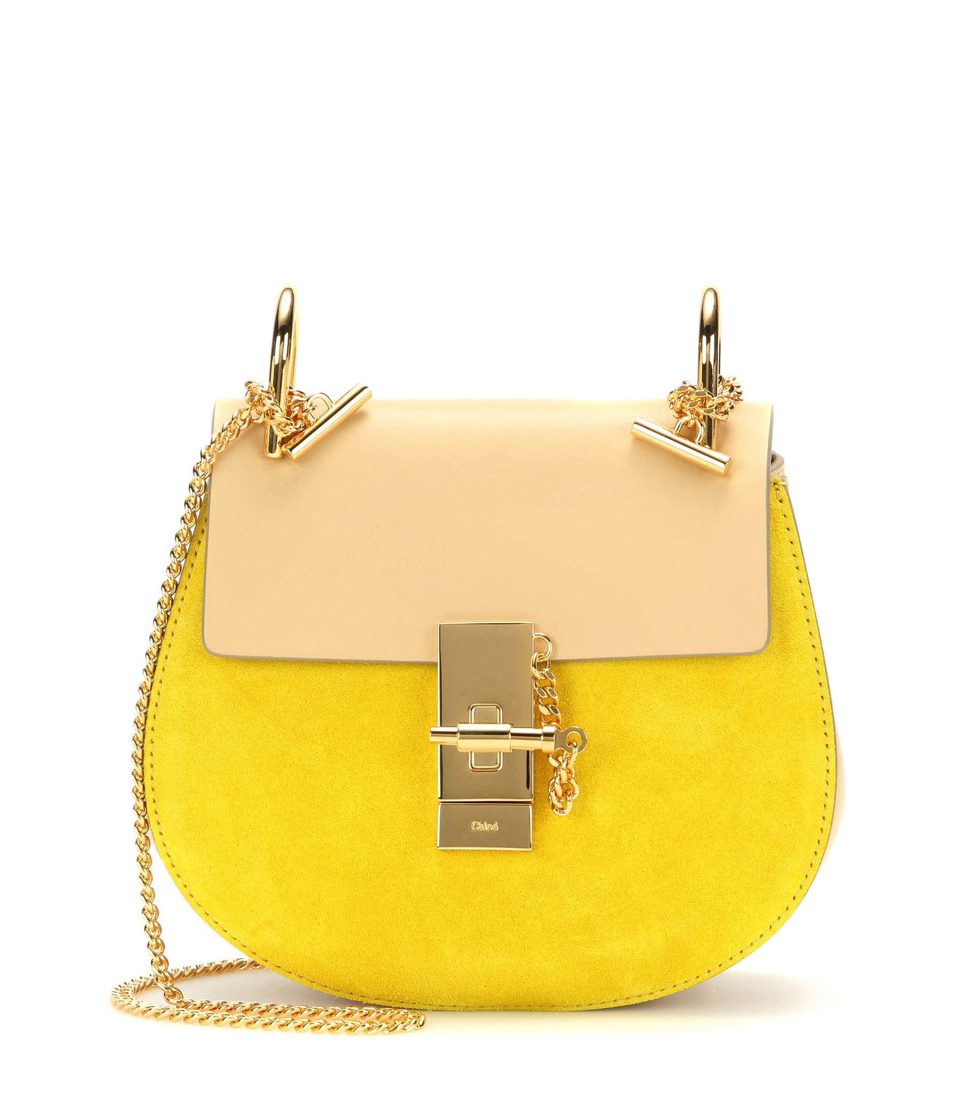 chloe red bags - Chlo�� Drew Leather And Suede Shoulder Bag in Yellow | Lyst