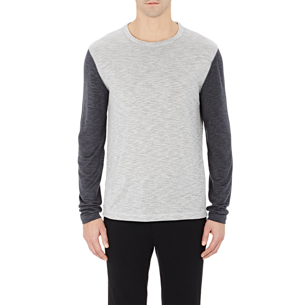 Theory long sleeve billey shirt in gray for men lyst for Grey long sleeve shirts