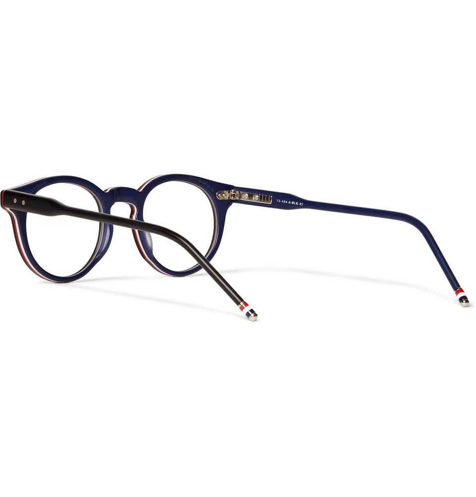18a3fa4b783 Lyst Thom Browne Roundframe Acetate Optical Glasses In Black For Men