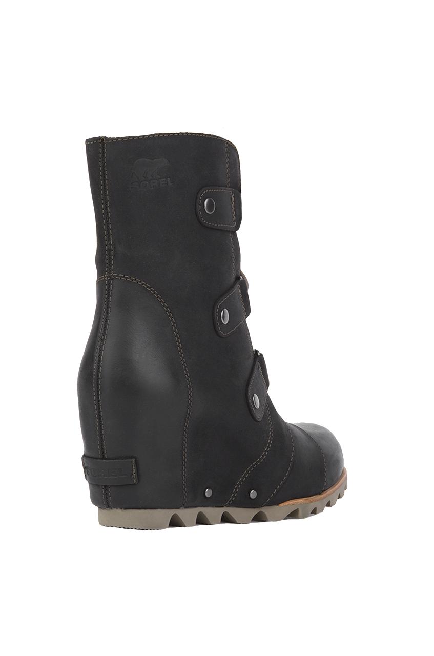 e5228ba020e Lyst - Sorel Women s Joan Of Arctic Wedge Mid Boots in Black
