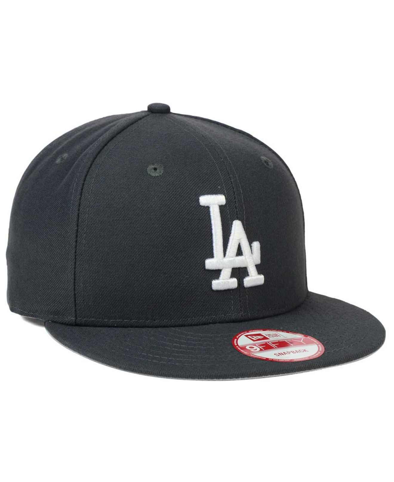 Lyst - Ktz Los Angeles Dodgers C-dub 9fifty Snapback Cap in Black for Men