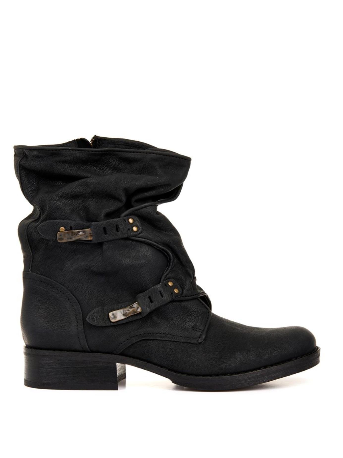96465d8888fac Lyst - Sam Edelman Ridge Leather Boots in Black