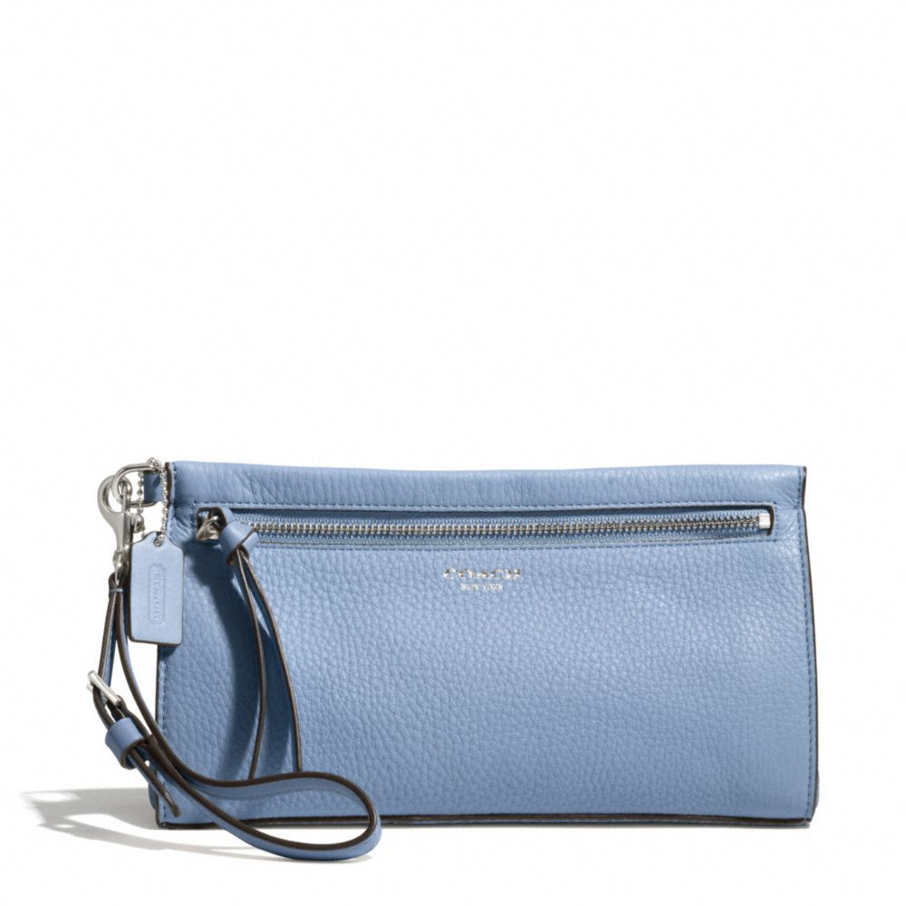 Lyst Coach Bleecker Large Wristlet In Pebbled Leather In