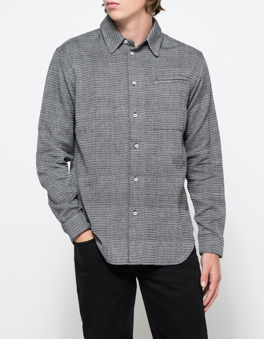 Neuba Long Sleeve Collared Shirt in Gray for Men | Lyst