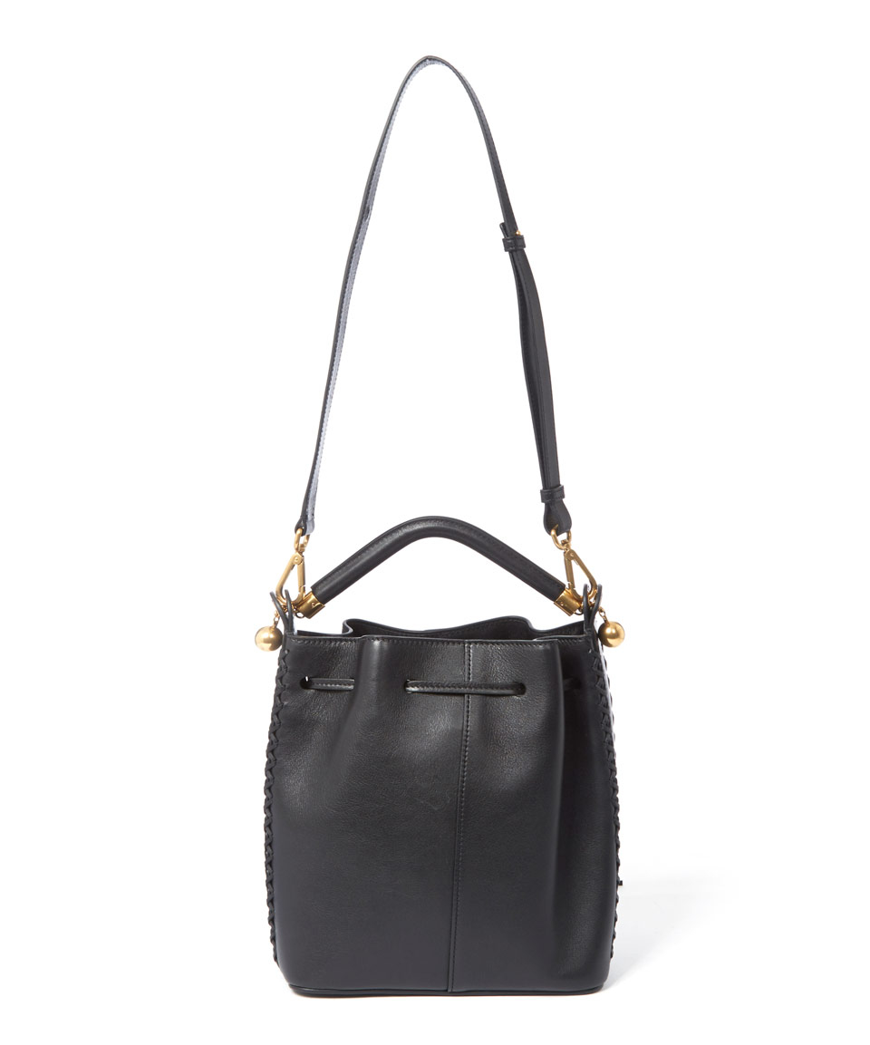 chloe imitation handbags - chloe black tassel medium gala bucket bag, chole hand bags