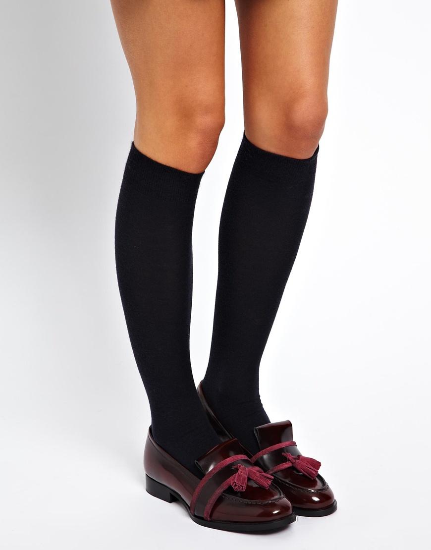 6428c2e6d33 Falke Soft Merino Knee High Socks in Blue - Lyst