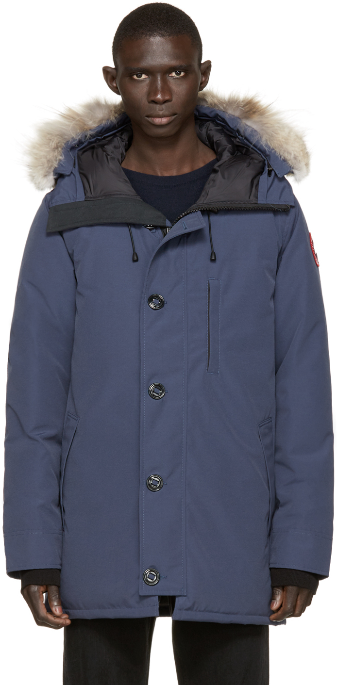 Canada Goose montebello parka online fake - Canada goose Navy Down & Fur Spirit Chateau Parka in Blue for Men ...