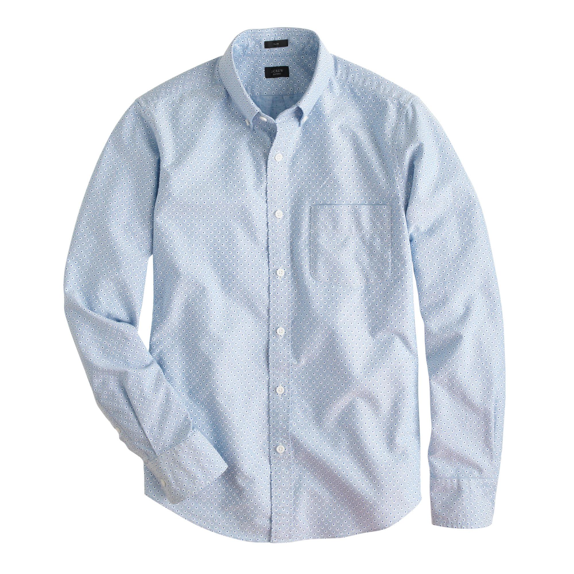 Slim Vintage Oxford Shirt In Daisy Print For Men Lyst