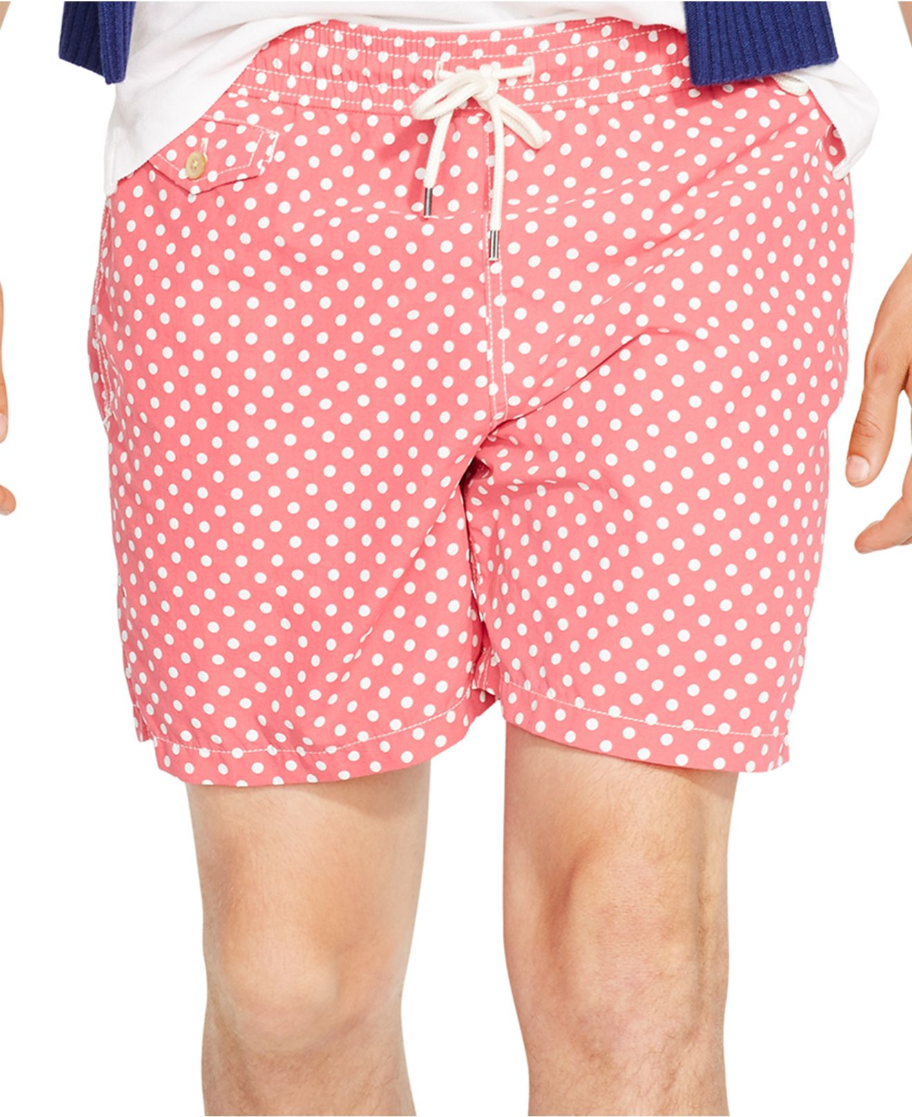 fa4ab2af25 ... release date lyst polo ralph lauren traveler dotted swim shorts in pink  for men 7c50d 09919 ...