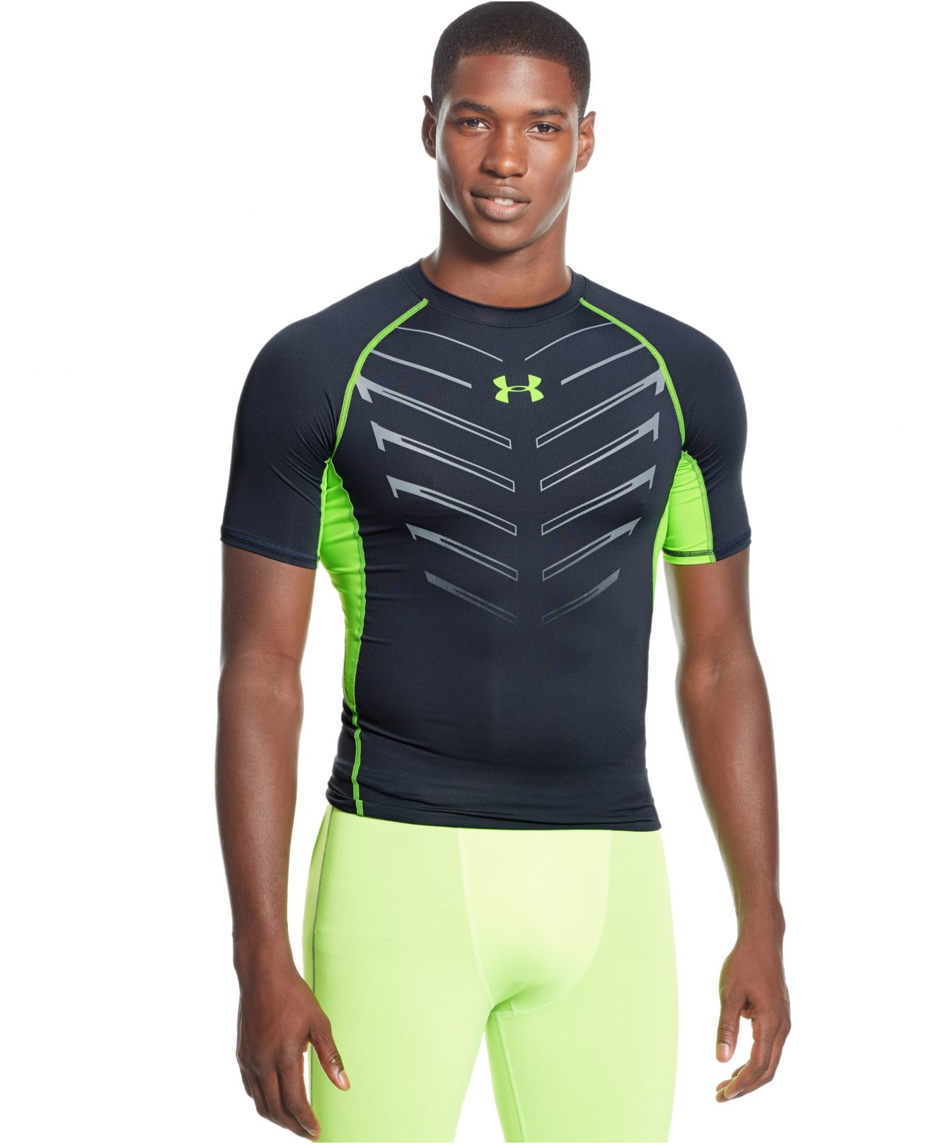 Under Armour Exo Heatgear Compression T Shirt In Gray For