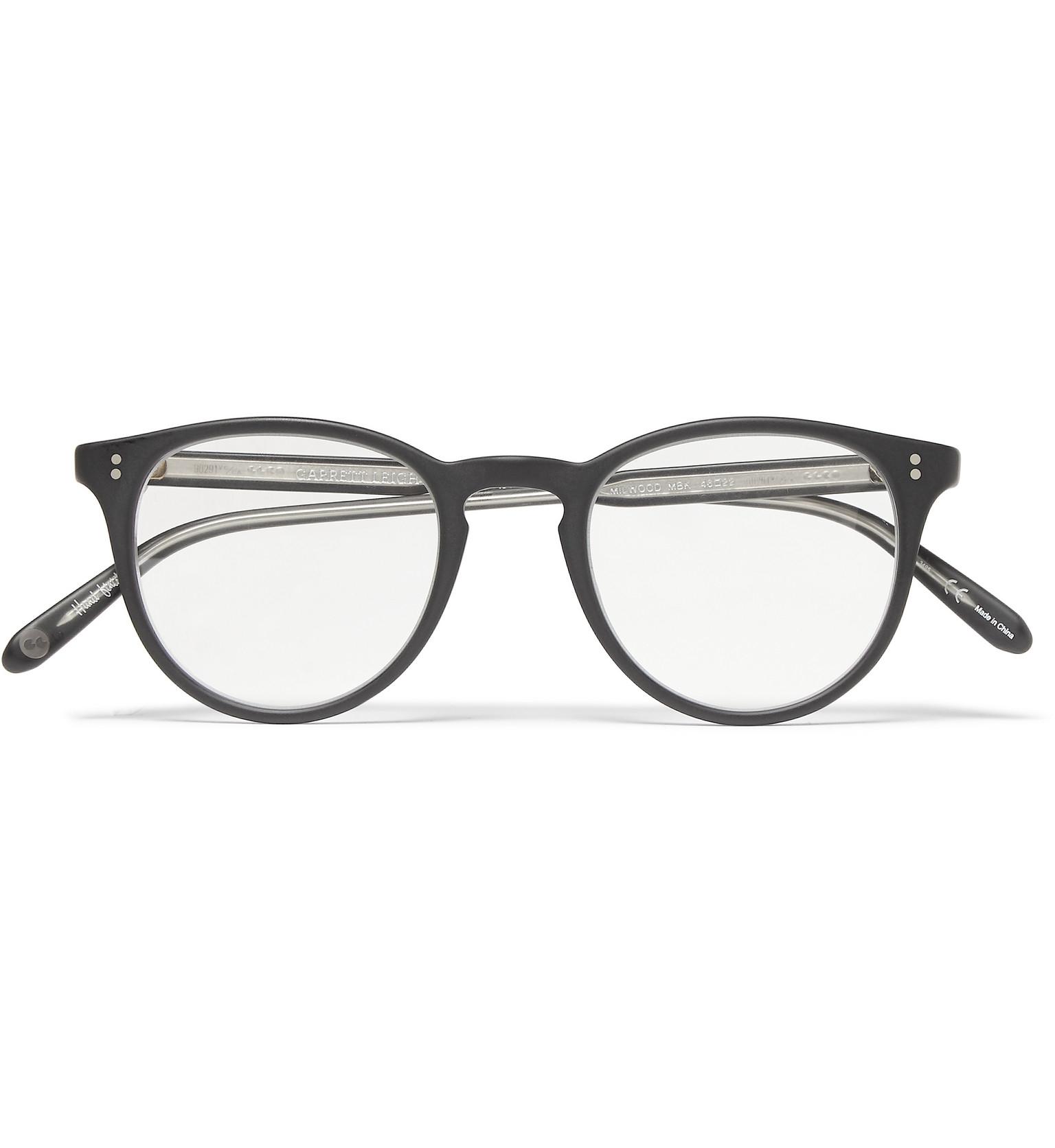Lyst - Garrett Leight Milwood Round-frame Acetate Optical Glasses in Black  for Men