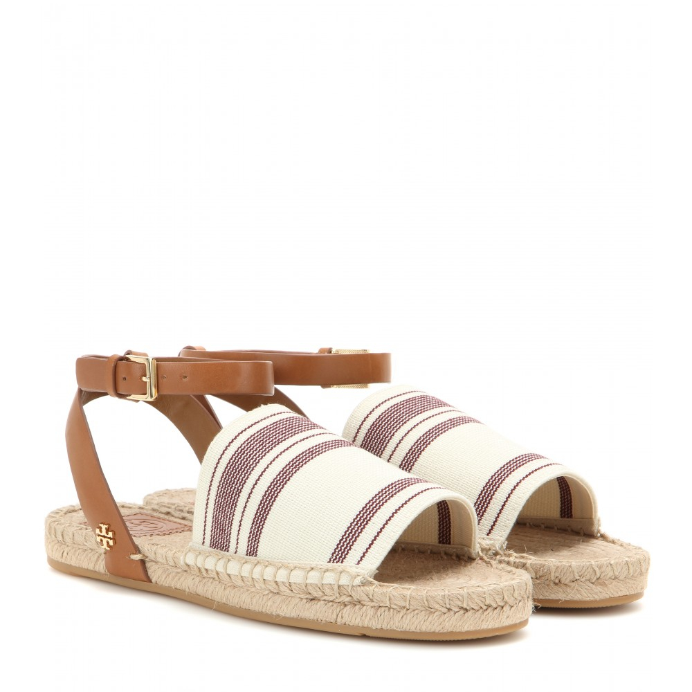 tory burch espadrille sandals in natural lyst. Black Bedroom Furniture Sets. Home Design Ideas
