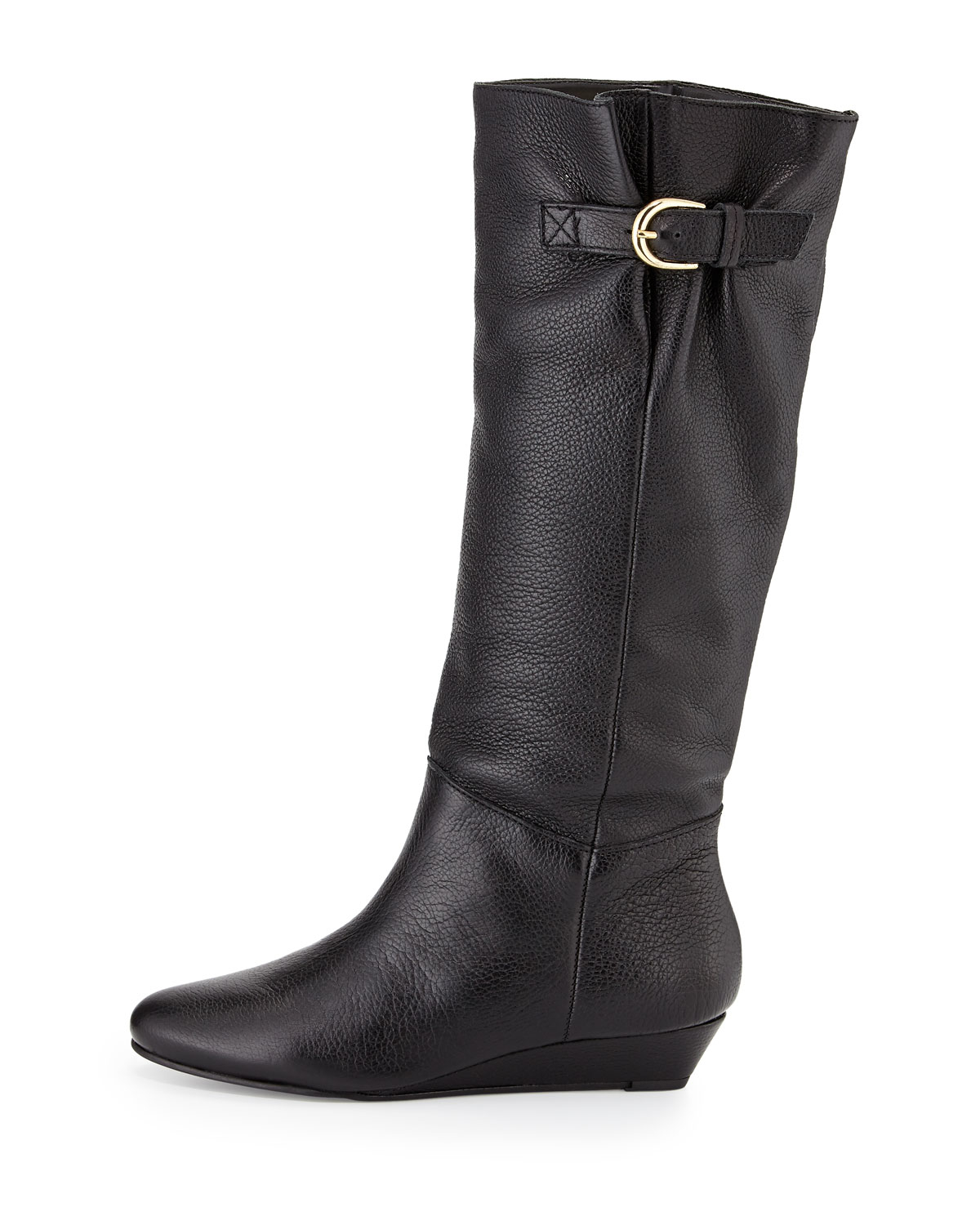 steven by steve madden insight leather demi wedge boot in