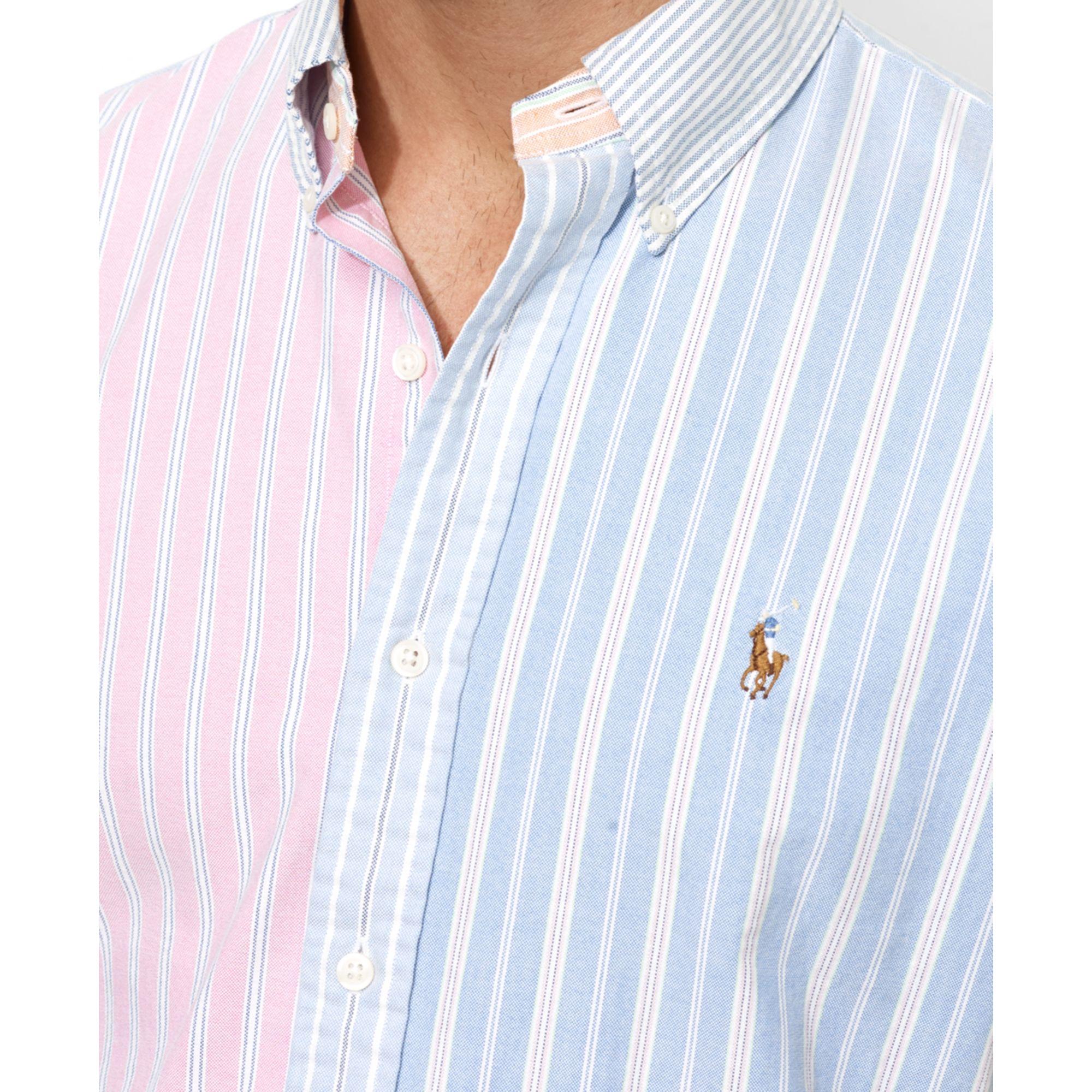 7e14f92235 ... netherlands lyst ralph lauren polo customfit oxford fun shirt for men  bb906 54f4b