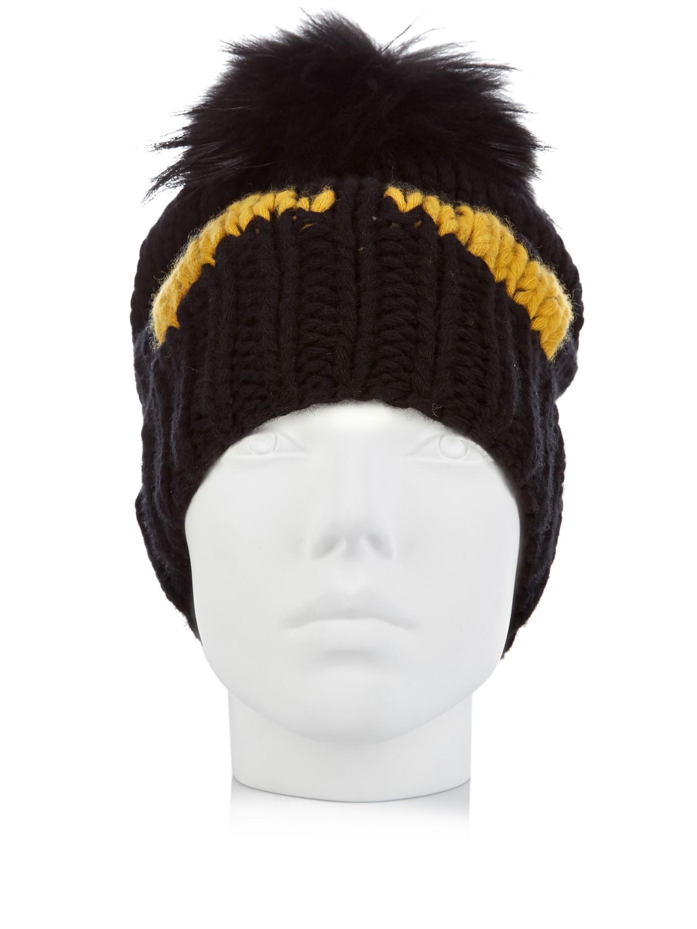 fdbf6b52af4c Lyst - Fendi Bag Bugs-intarsia Wool-knit Beanie Hat in Black for Men