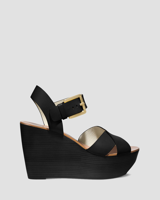 42b4745d0e46 Lyst - MICHAEL Michael Kors Open Toe Platform Wedge Sandals Peggy in ...
