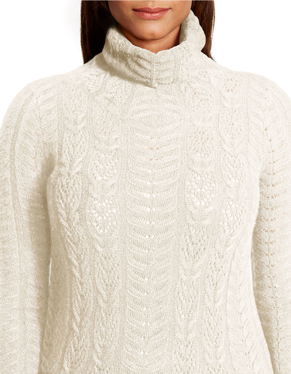 Lauren by ralph lauren Plus Wool-cashmere Turtleneck Sweater in ...