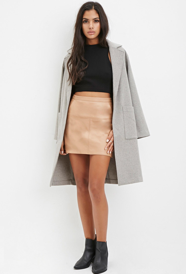 Beige leather skirt – Modern skirts blog for you