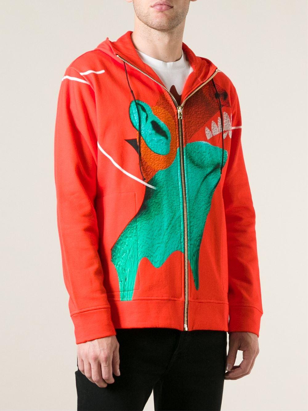 Katie Eary 'Psycho' Hoodie in Red for Men