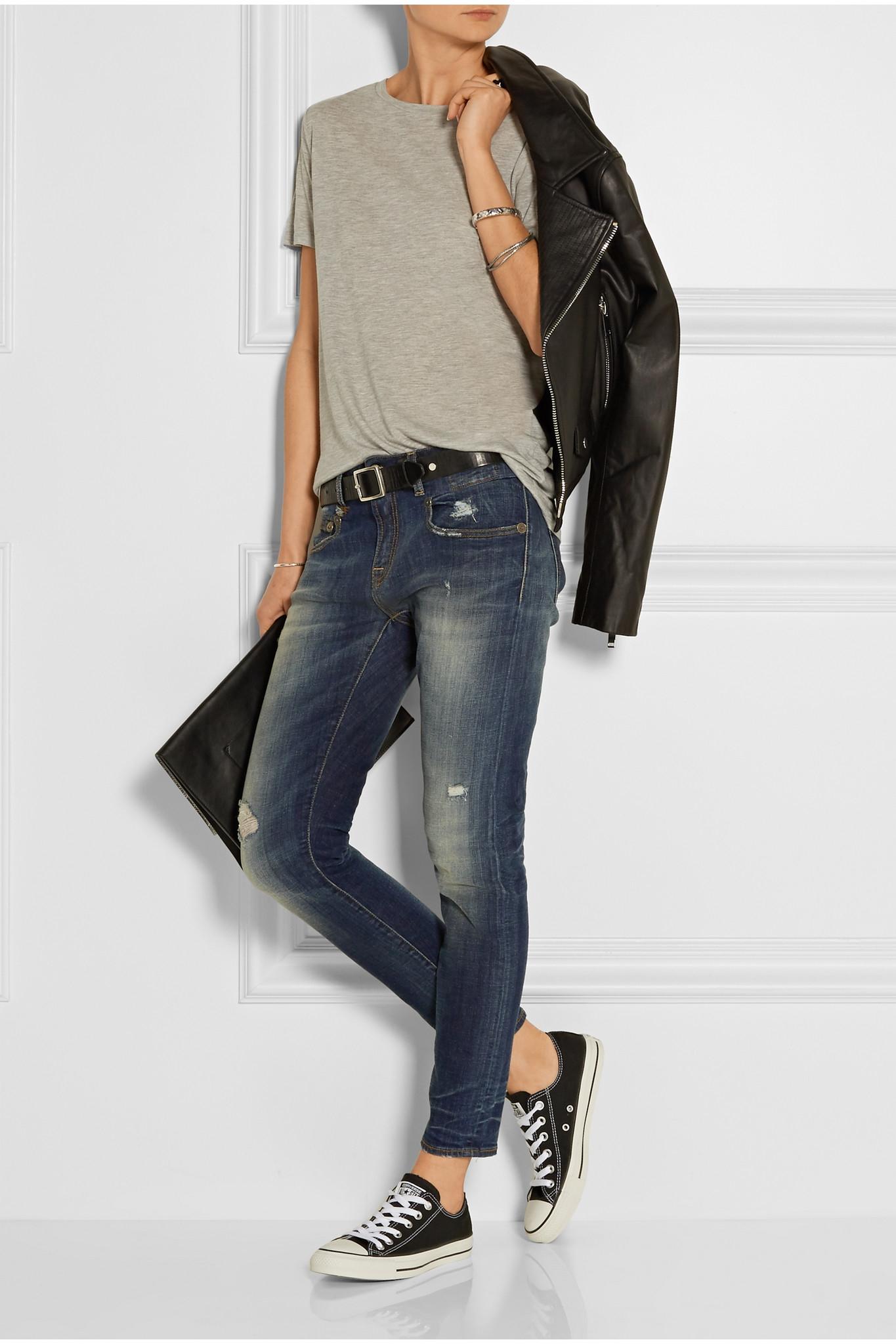 Boy Cropped Slim Boyfriend Jeans - Mid denim R13 0OostiBd88