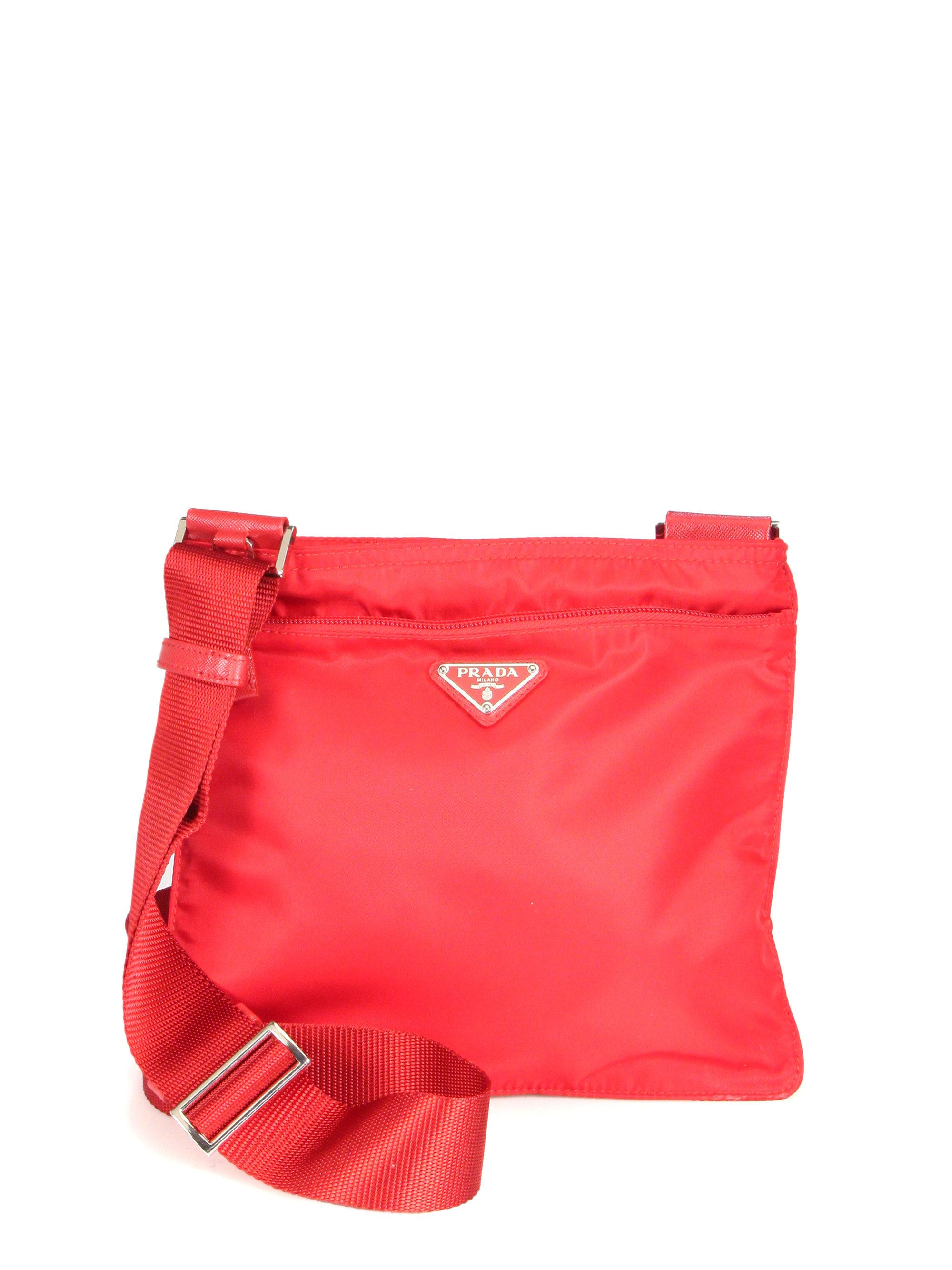 bag prada red
