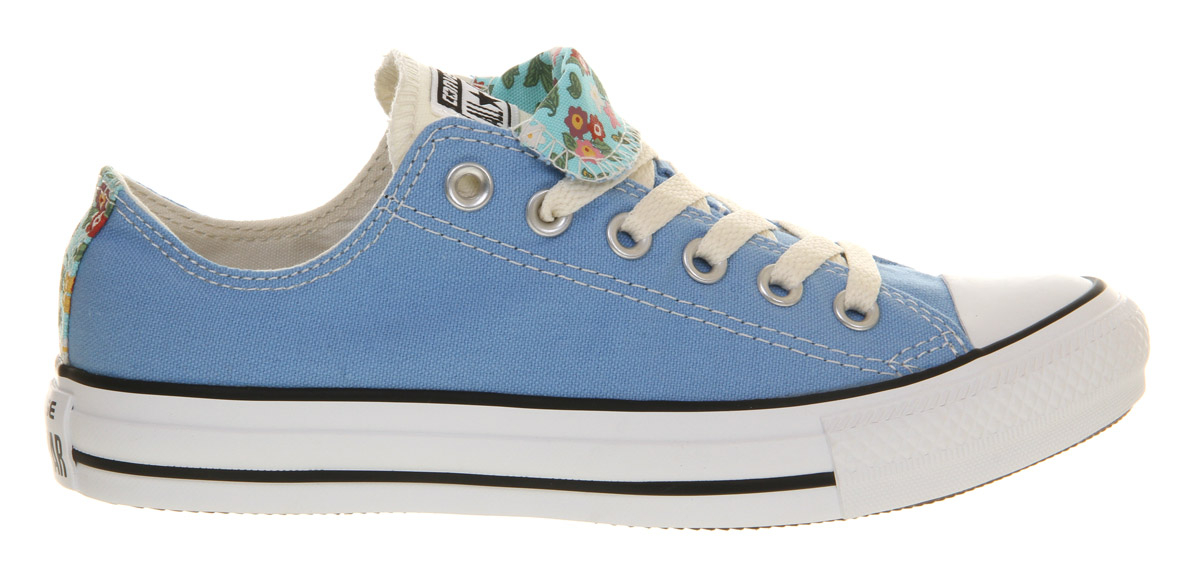 2af3378ba776c8 Lyst - Converse All Star Ox Low Double Tongue Caroline Blue Floral ...