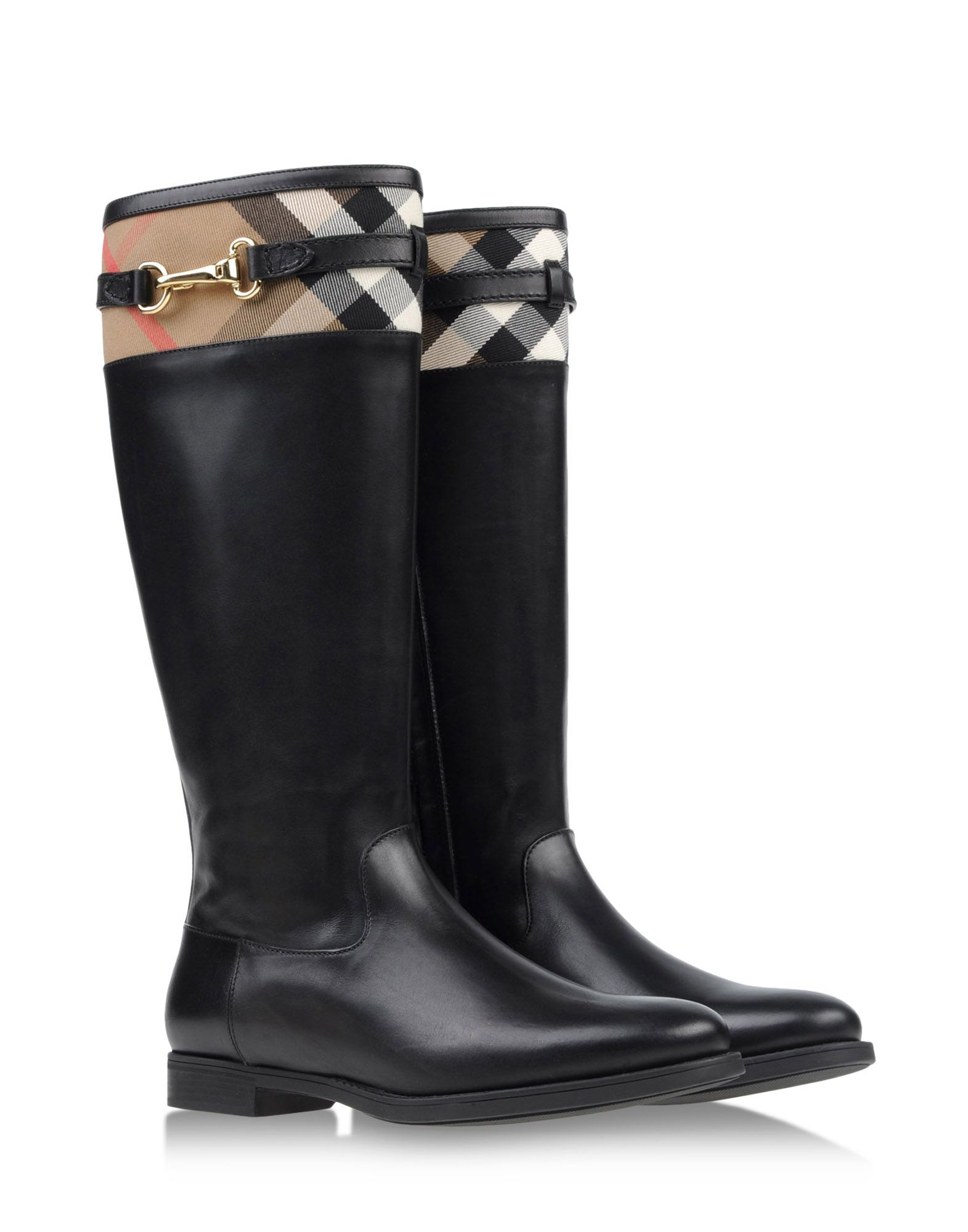 burberry boots in black lyst