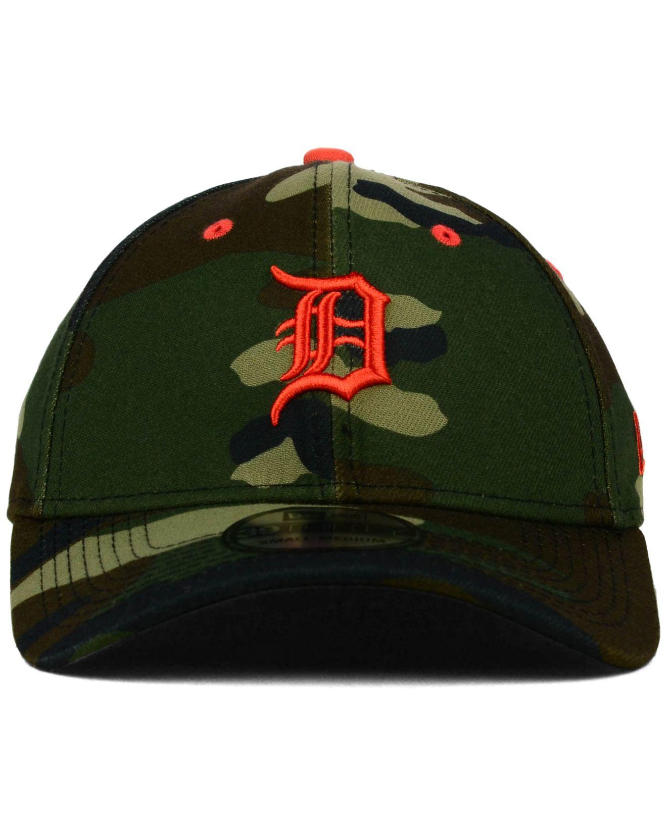hot sale online 7eb63 35da7 Lyst Ktz Detroit Tigers Camo Classic 39thirty Cap In Green For Men