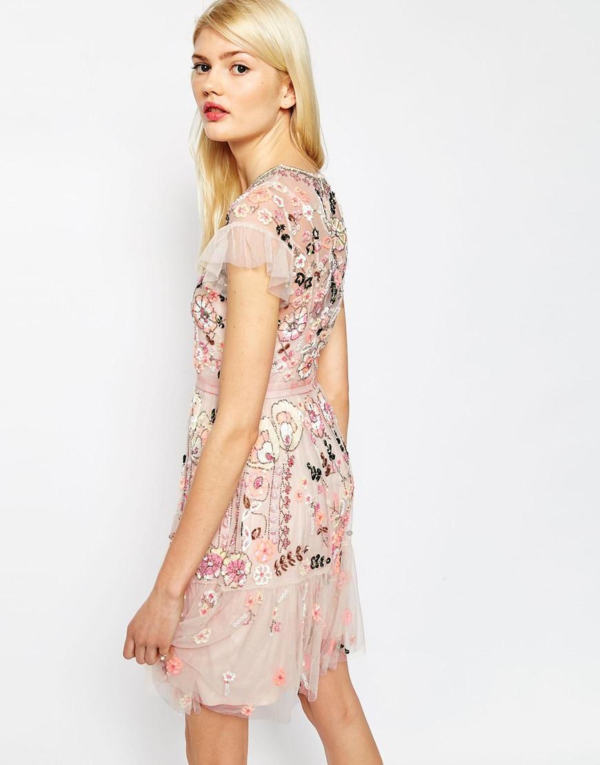 lyst needle u0026 thread floral tiered embellished dress